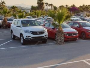 Flotte der Victoria Autovermietung am Flughafen Alicante
