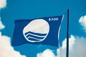 Blue Flag Beach sign