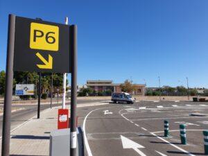 Punto de encuentro P6 en el Aeropuerto Valencia - Victoria Rent a Car