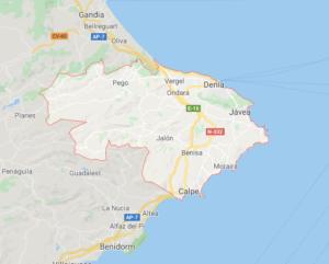 Mapa Marina Alta
