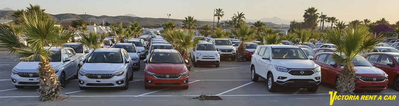 Victoria Rent a Car fleet at Alicante Airport