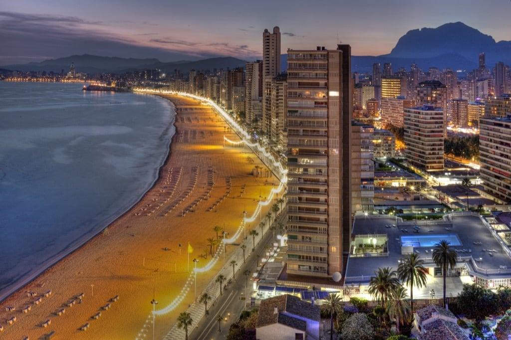 playa de levante Benidorm