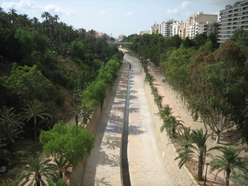 rio vinalopó paso por Elche